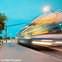 City of London Transportation Choices, BRT photo by Scott Webb Photography